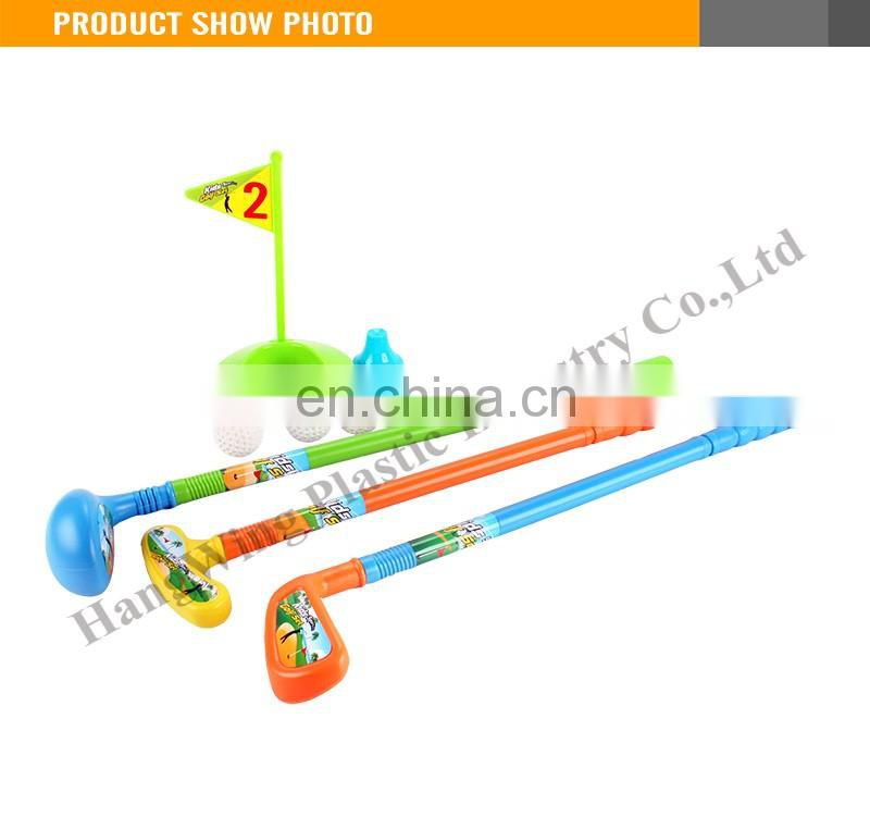 Children Outdoor Plastic Golf Gift Set 3 Color Mini Golf Set