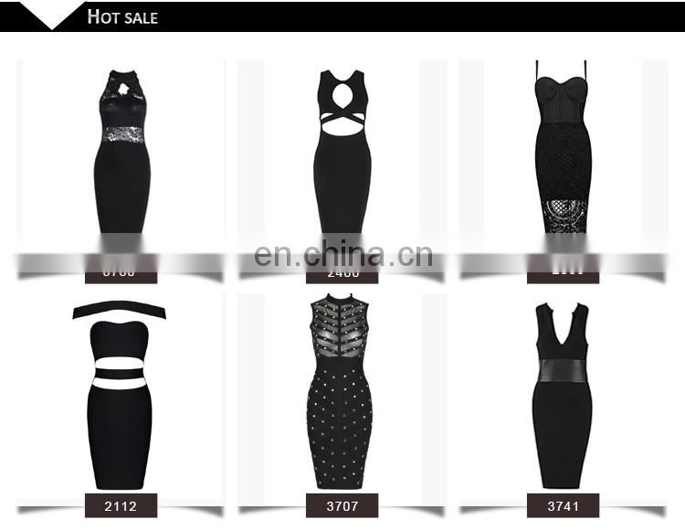 fashion oem off shoulder sexy midi dresses bodycon bandages two piece evening dress production