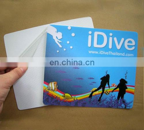 2016 calendar customized printed ultra-thin adhesive table mat pvc