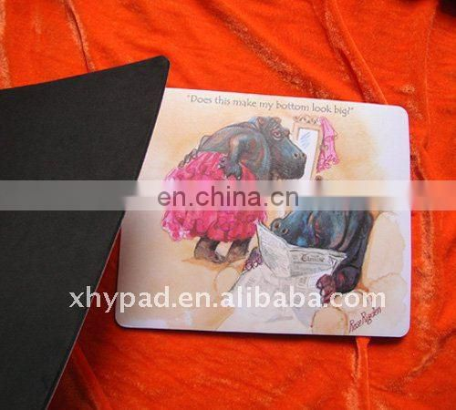 Business gift white eva backing plastic surface mouse pads custom images