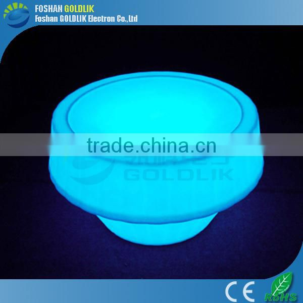 Coffee Shop Fashion Lighted Furniture LED Light Round Table Sale