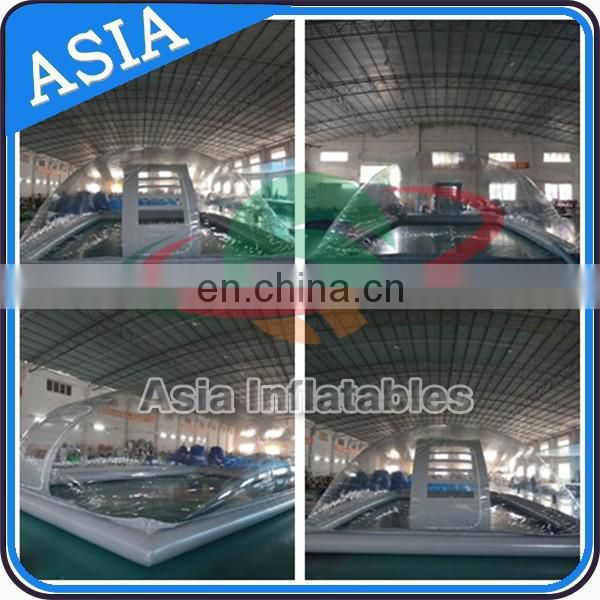 Transparent PVC Inflatable Bubble Tent / Clear Car Cover For Sale