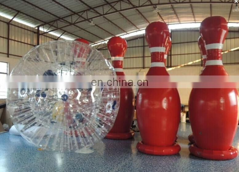 inflatable human zorbing bowling / inflatable zorb bowling ball / inflatable human bowling ball