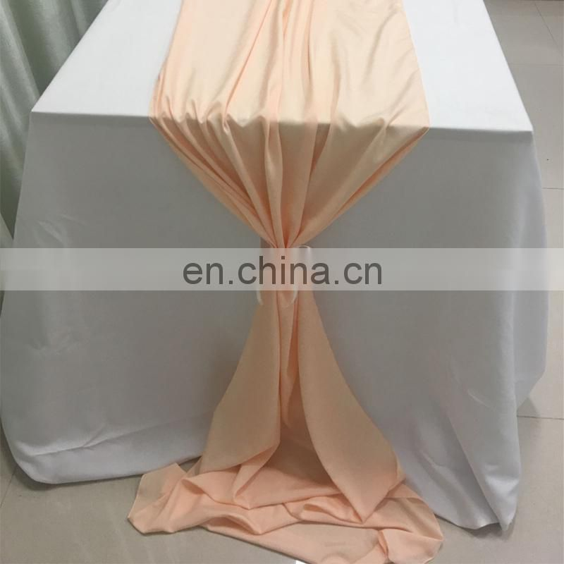 TR041#86 dusky pink crepe de chine ding restaurant table runner for square tables