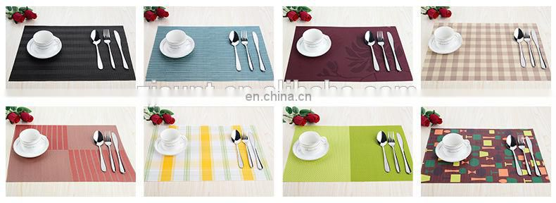 Free sample green stripe placemat with PVC