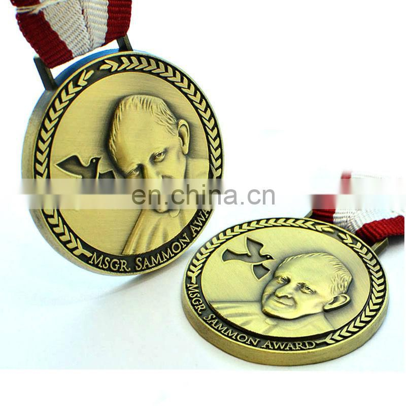 Cheap customized souvenir metal medal new products on china market