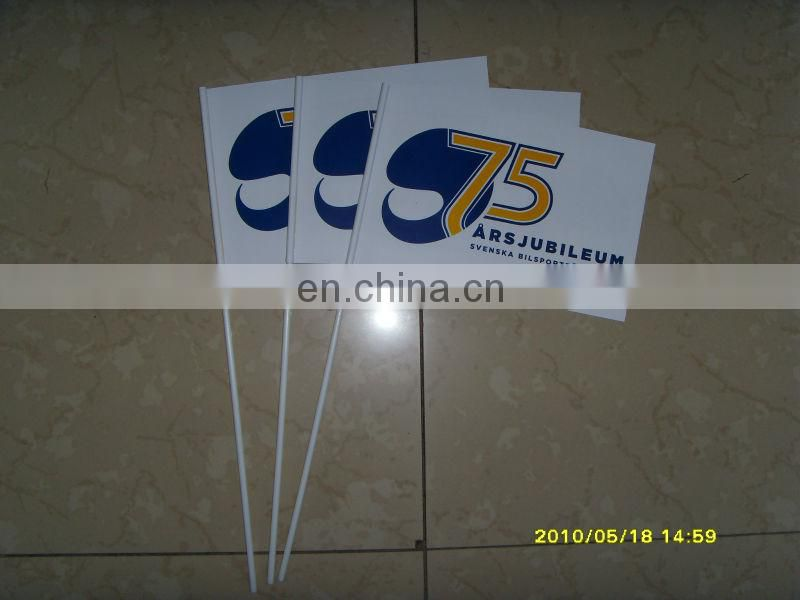 30*45cm custom hand wooden stick flag