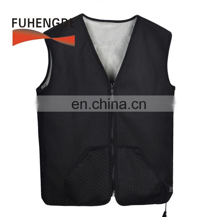 Outdoor intelligent battery operated rechargeable safety adjustable carbon fiber heated vest