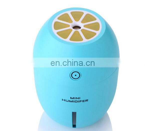 Lemon Shape USB Humidifiers with LED Night Light 180ML Air Purifying Aroma Diffuser Essential Oil Cool Mist