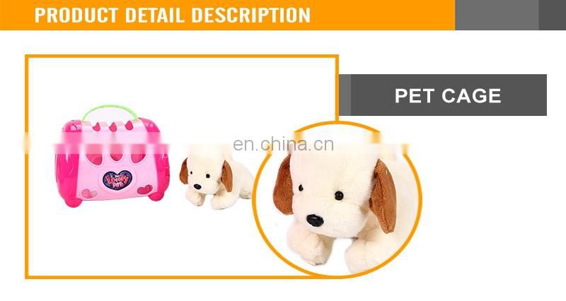 Lovely Girls Toys Stuffed Animal Doctor Set Pet Cage