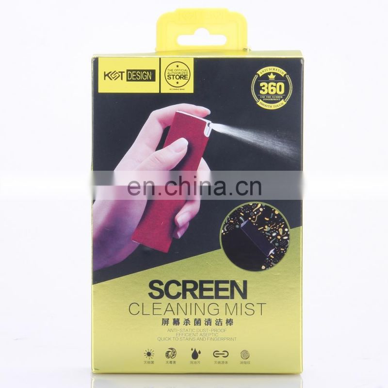 New Product Detachable Antibacterial Screen Cleaning Spray and Wipe 2 in 1 kit