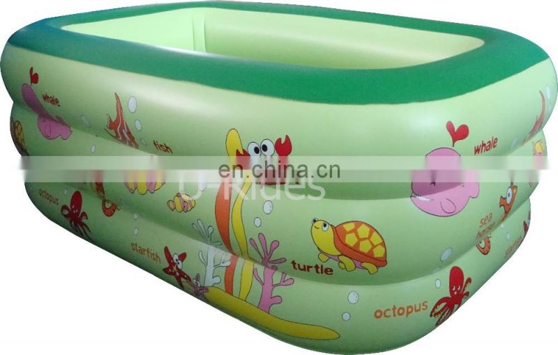 EN-71 certificate inflatable deep and clear circular pool For Family use