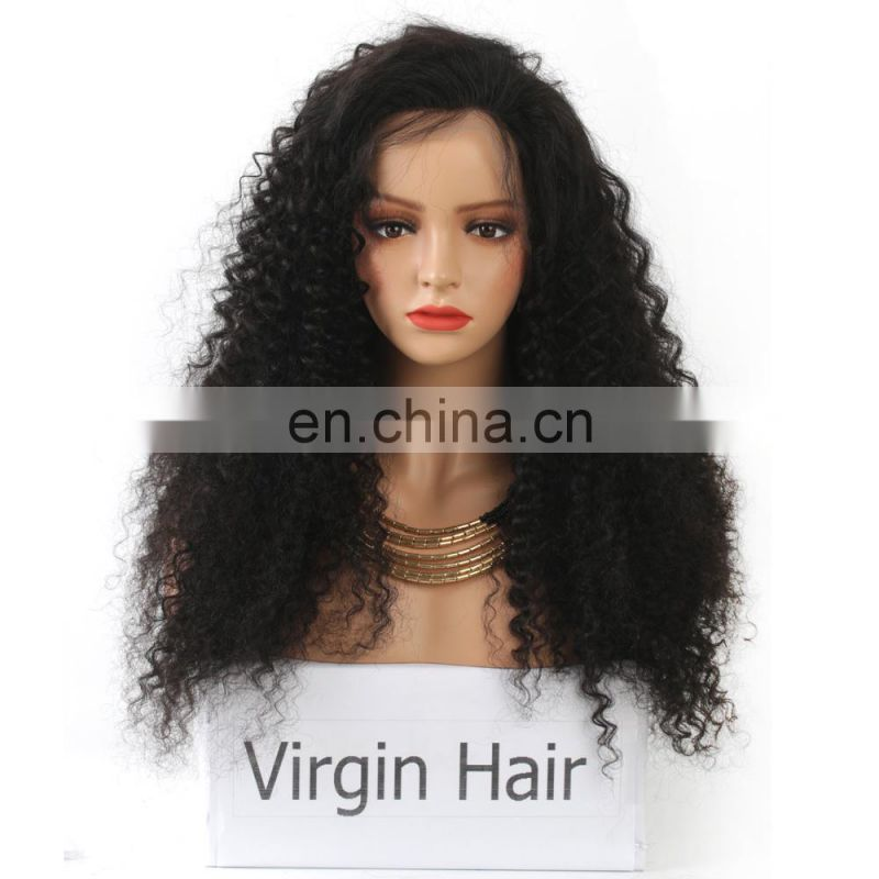 Wholesale Price Customized Curly virgin Brazilian Hair afro human hair wig