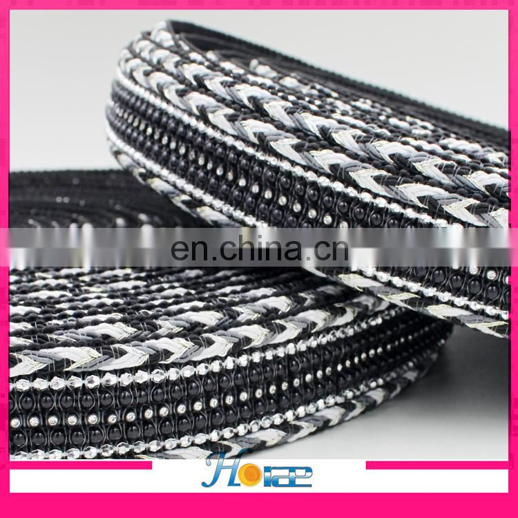 Factory directly sale 4cm braided ribbon for shoes knitted ribbon for clothing