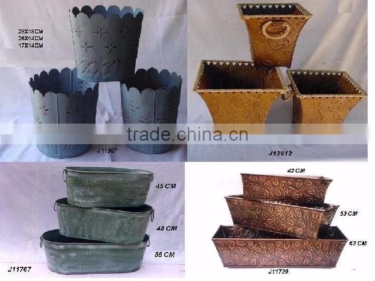 antique french style metal planters for home decor