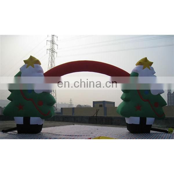 Inflatable christmas archway christmas tree arch outdoor christmas arch for decoration