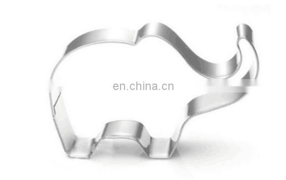 Stainless Steel Baby Shower Cake Decoration Tools Bottle Carriage Onesie elephant candy Baked Good and Craft Cookie Cutters