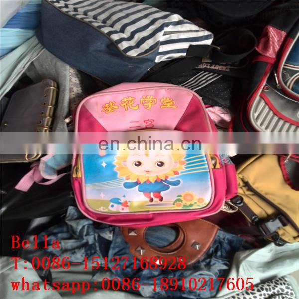 china factory second hand clothes in bales wholesale used school bags