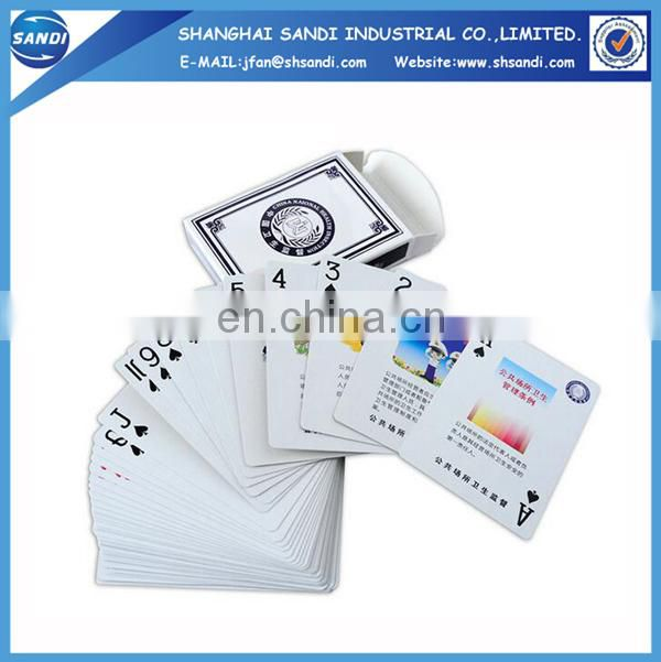 Promotional paper 777 playing card with printing