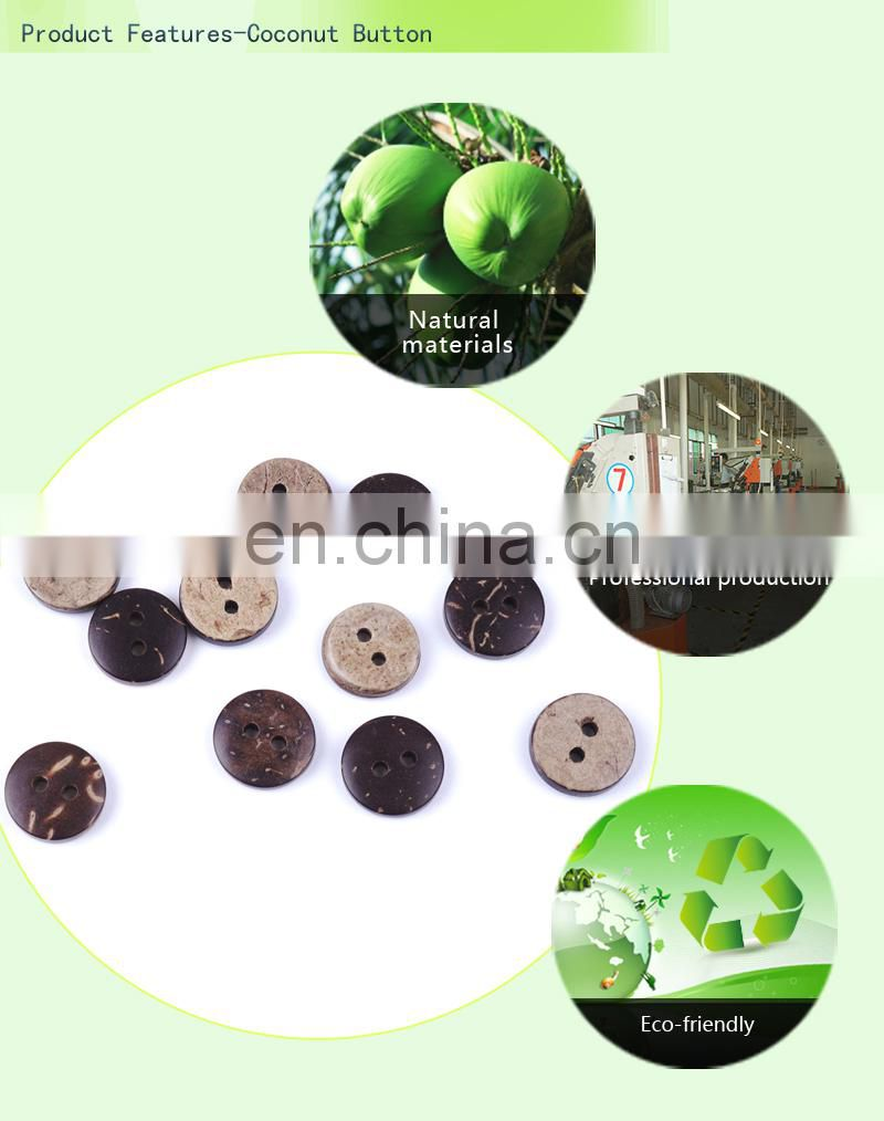 16L 10mm Popular Coconut Buttons Items Natural Material Art Buttons