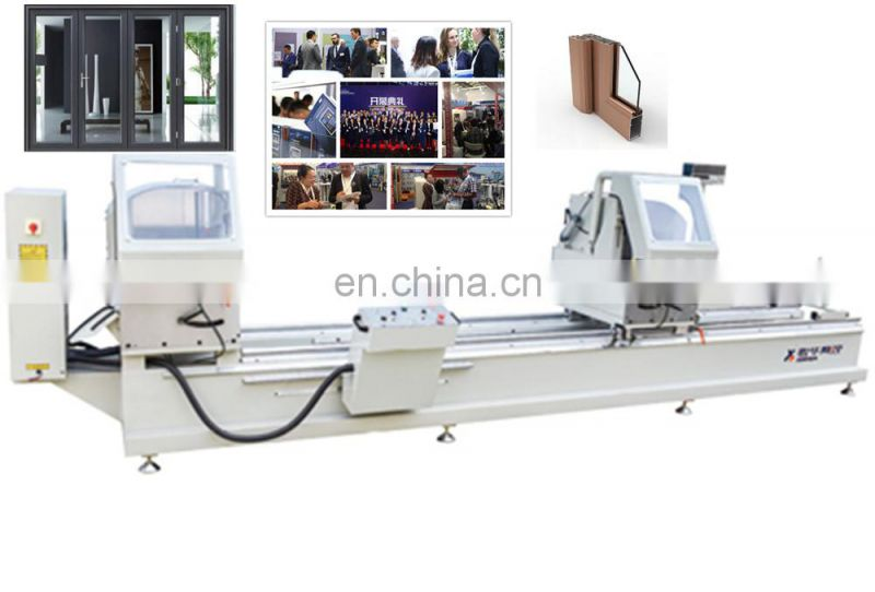 Doublehead aluminum cutting saw machine aluminium window door frame corner crimping cnc machining center Good Quality