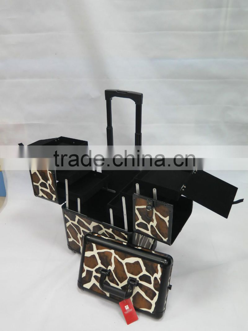 Fashion and Popular Museum Quality Display Cases Tool Box With Wheels Caddy Trolley School Case