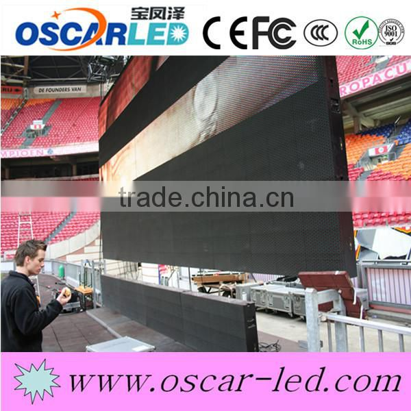 2015 brazil world cup football stadium led display stadium clock led display p10 flexible stadium flexible led display