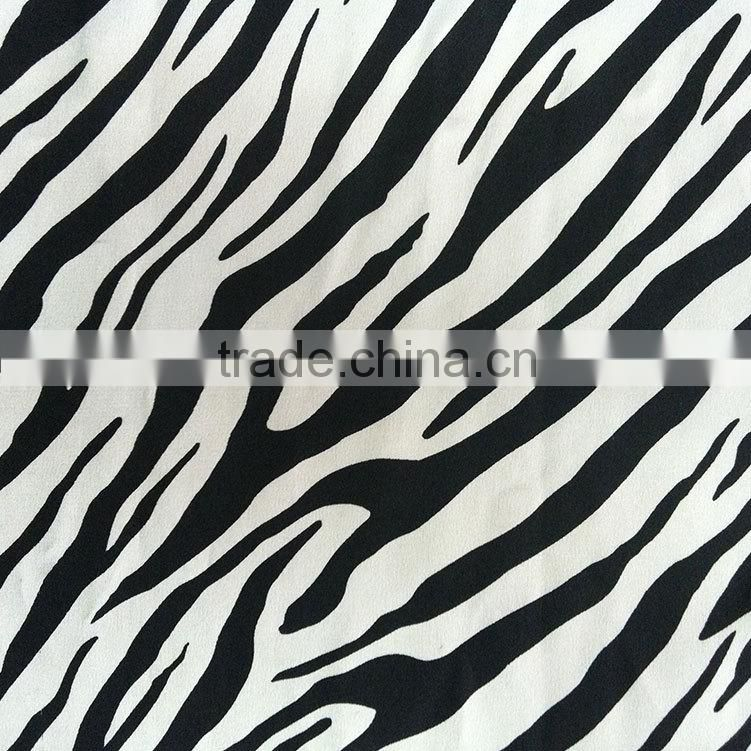 Stretch zebra-stripe designs 210d 100% Polyester viscose spandex fabric for Dress, Sportswear