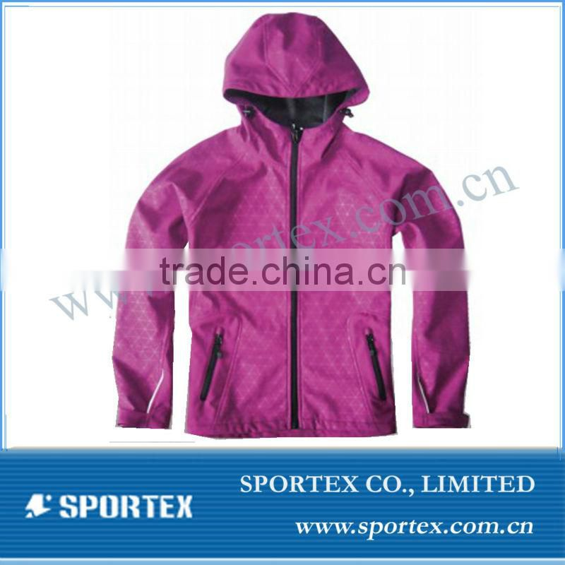 SPT-GS1307 softshell jacket women, waterproof softshell jacket women, softshell jacket for women with hood