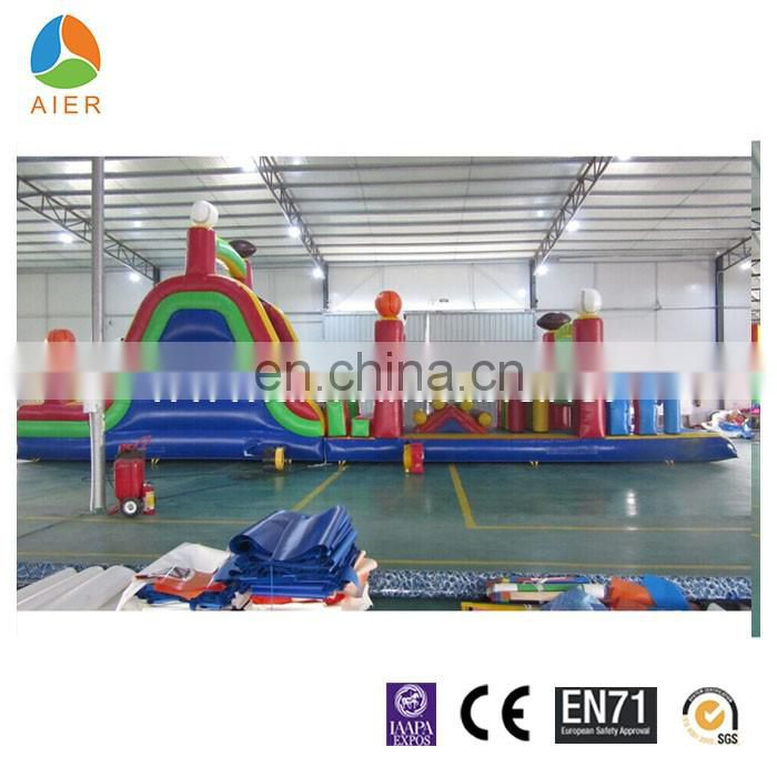 Newest Ball Game Inflatable Obstacle Course for kids with CE certification