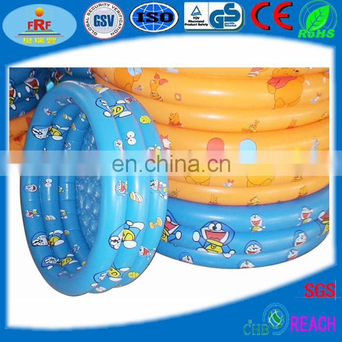 Inflatable Round Swimming Pool With Crystal Bottom