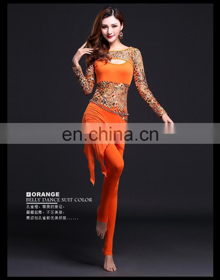 T-5107 Fashion modern style Hong kong women belly dance cloth set