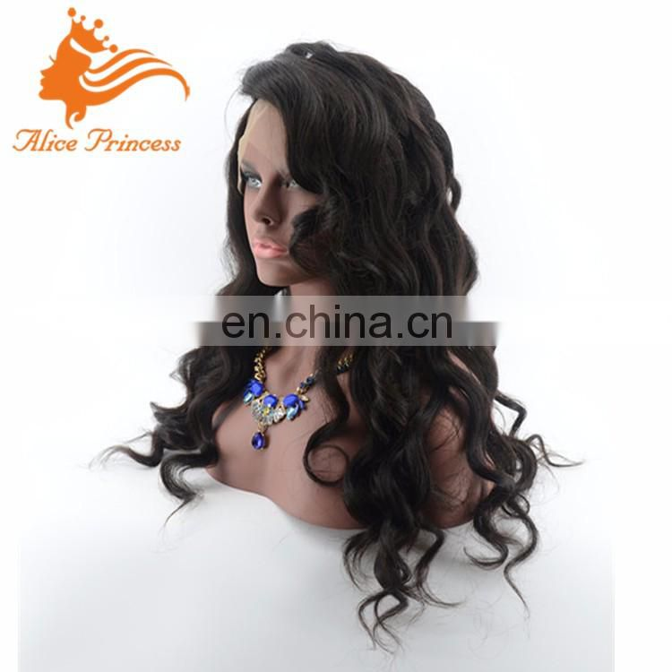 Unprocessed Full Lace Human Hair Wig Natural Color Body Wave Side Part Virign Indian Human Hair Wig For Black Women