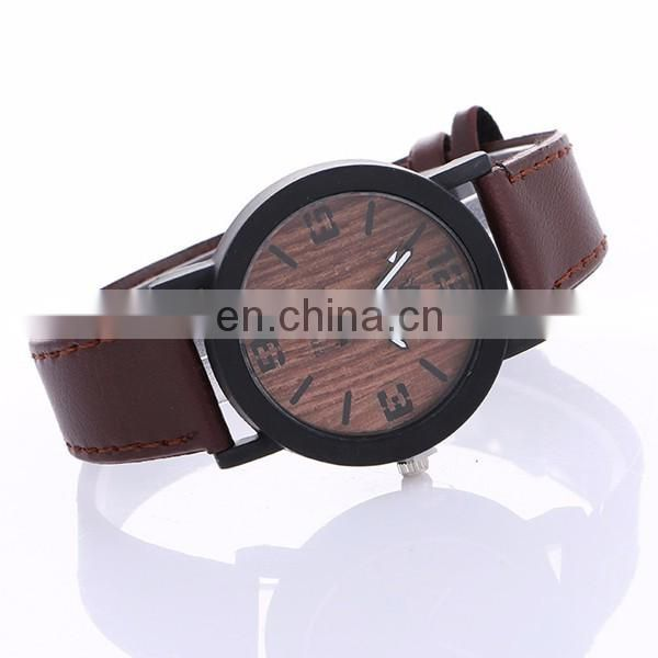 Wholesale cheap mens watch leather watch