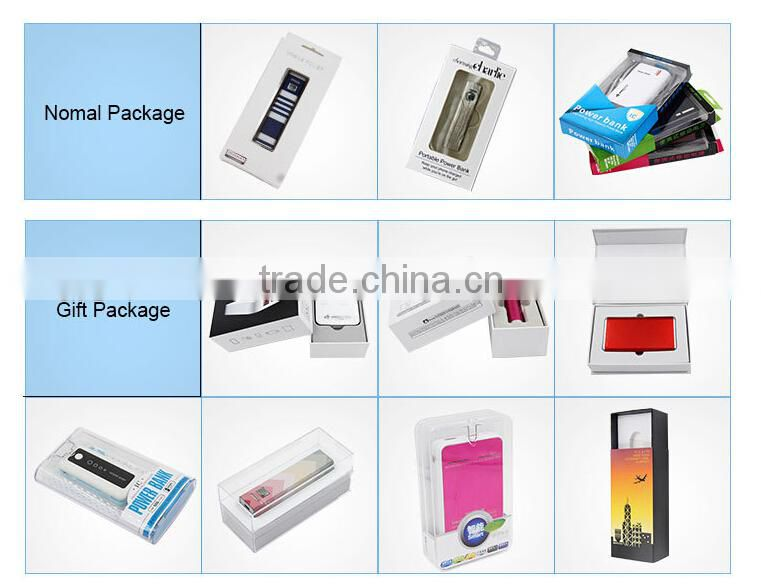 Portable 2600mah usb power bank mini charger