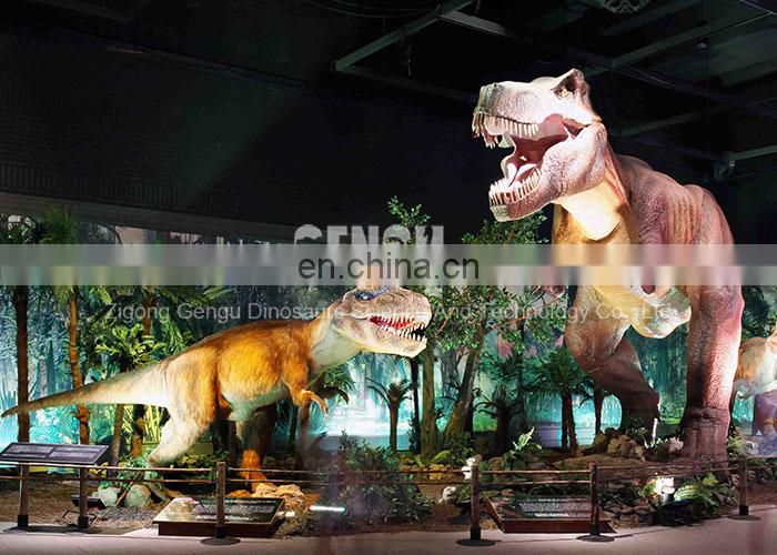 Indoor size animatronic dinosaur model