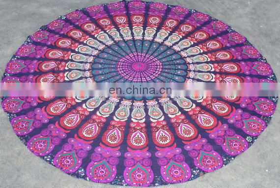 Mandala round Yoga Mat Round Mandala Tapestry Beach Throw Towel Indian Wall Hanging online sales 2015