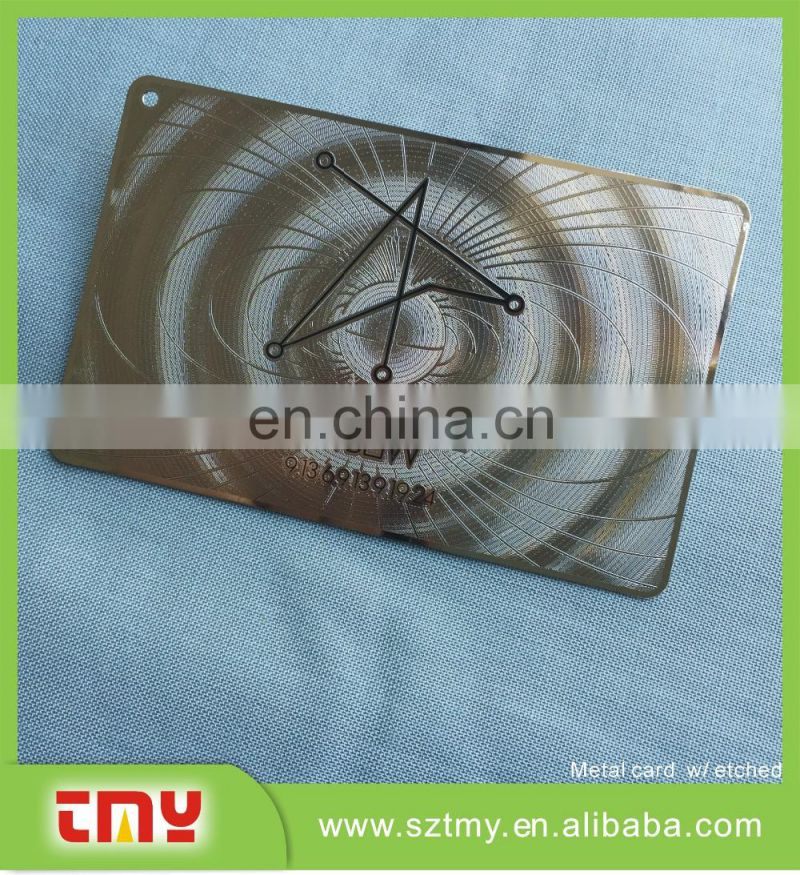 Professional metal Cards making company in Shenzhen