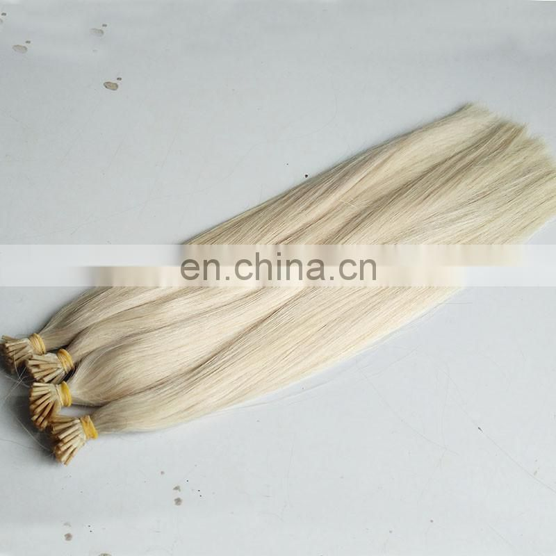New Arrived Top Double Drawn Russian Platinum Blond I Tip Fusion Hair Extensions
