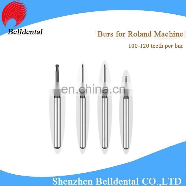 CAD CAM System DLC Coating Dental Zirconia Milling Burs for Roland