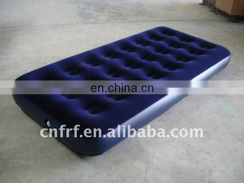 Inflatable Single Flocked Mattress
