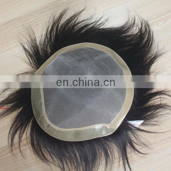 Faceworld men's toupee high quality mens hair piece
