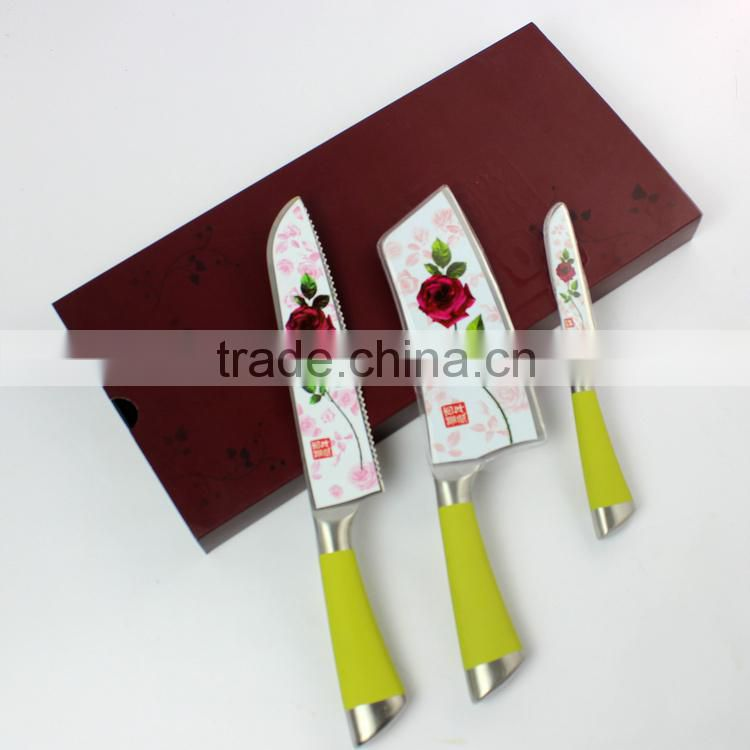 Professional high quality stainless steel knife set