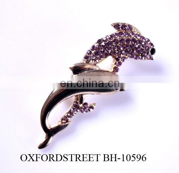 fashion alloy rhinestone insect brooch