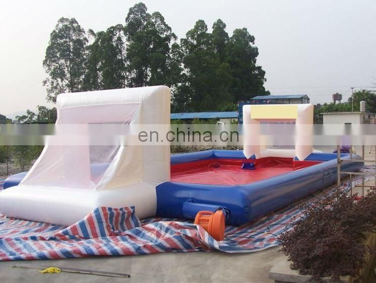 White Inflatable human foosball yard