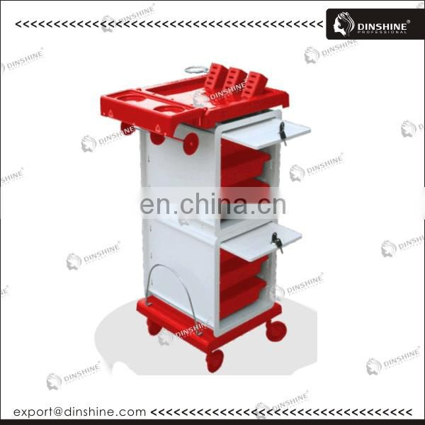 Professional salon plastic rolling beauty trolley for sale