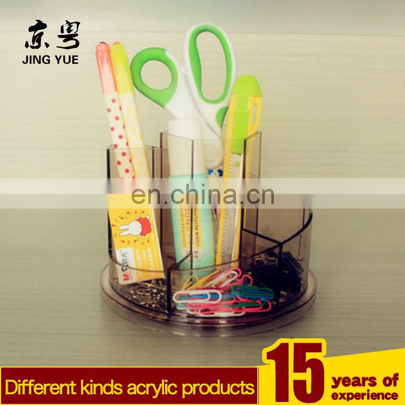 Round clear office supplies pmma plexiglass acrylic Multi-use Pen Holder
