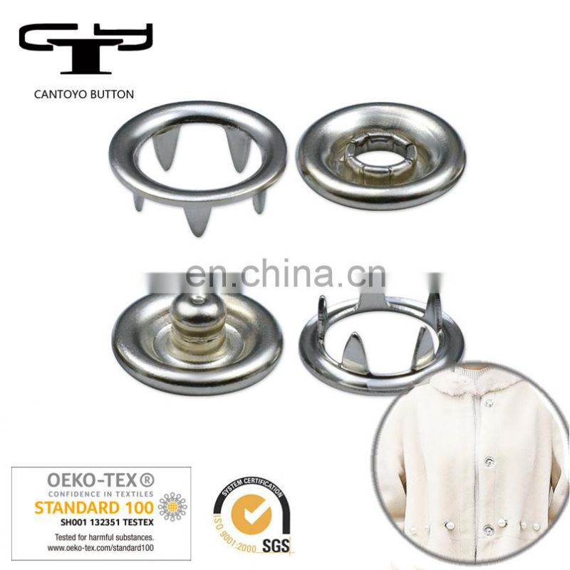 four parts metal prong snap button custom for garment in china
