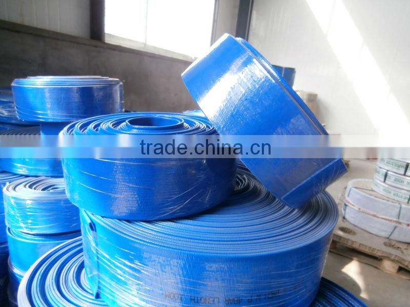 plastic flexible water irrigation layflat pipe