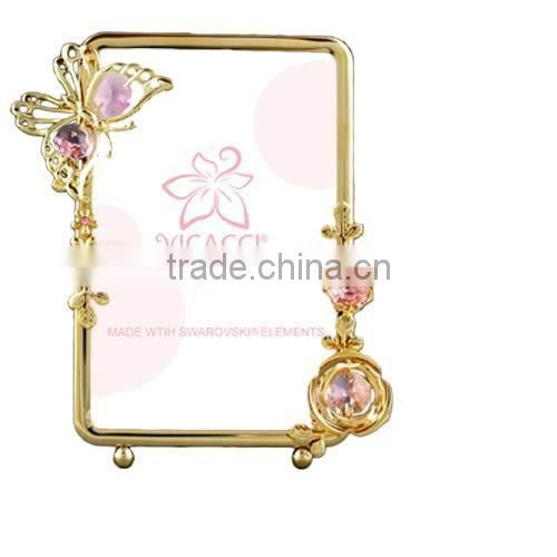 24K gold plated Square Rose Picture Holder for Home Decor